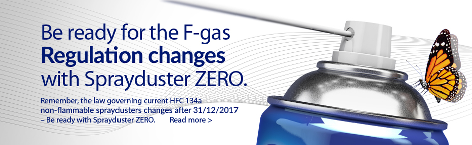 Be ready for F-gas Regulation changes with Sprayduster ZERO